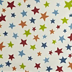A nice contemporary star fabric in a simple sketchy print. This modern style star fabric is from the Playtime collection, and is perfect for children's curtains