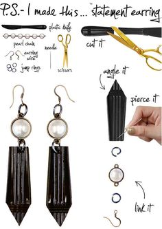 Cutlery Statement Earrings | 8 DIY Projects Inspired By Earth Day