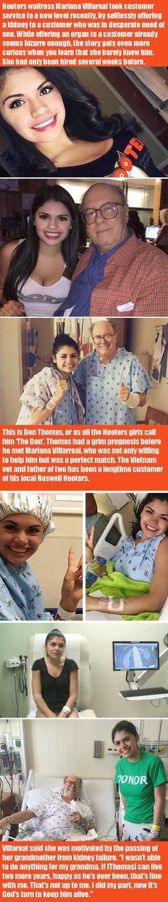 Hooters Waitress Donates Her Kidney To A Customer She Barely Knew  6 Pics And 1 Video