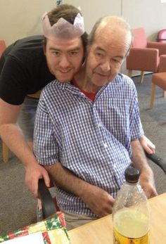 Tim Wylks with his father, Chris, who was diagnosed with Alzheimer's disease in 2008.