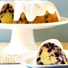 Blueberry-Lemon Buttermilk Bundt Cake (note: This cake was a little hard to get out of the pan in one piece)