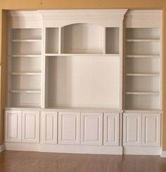 Built in Wall Unit- I would LOVE to have a built in wall unit :)