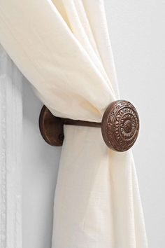 4040 Locust Engraved Doorknob Curtain Tie-Back - Urban Outfitters $25 for 2