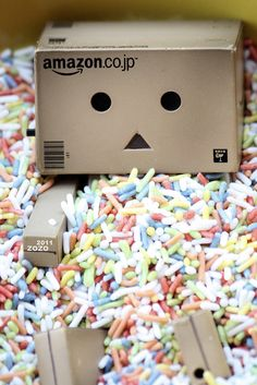 Find images and videos about cute, candy and danbo on We Heart It - the app to get lost in what you love. Danbo, Box Robot, Create A Face, Amazon Box, Love Box, Sparkles Glitter, Portrait Art, Funny Faces, Art Boards