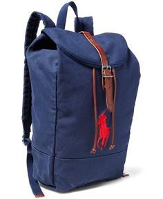 Polo Ralph Lauren Men's Big Pony Canvas Backpack