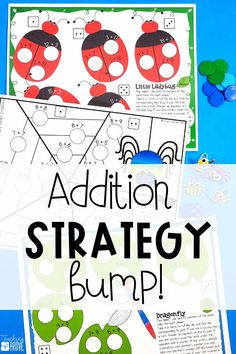 Addition games provide hands-on practice for learning addition strategies. After you've introduced each addition strategy, engage your first grade students with a fun bump game that will help improve their fact fluency. Perfect for homeschoolers too! #additionstrategies #additiongames