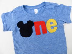 SAMPLE SALE Mickey Mouse Birthday Shirt for Disneyland Disney World Family Vacation Black Red Yellow via Etsy