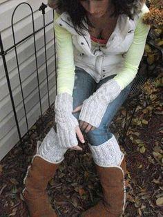 Handknit+legwarmers+ladies+teens+gray+15+long+hand+by+Funtific,+$35.00