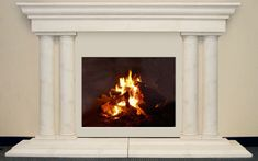 Grand Tuscan Cast Stone Tapered Tuscan Columns - Affordable - Lightweight Fiberglass Stone Fireplaces Chicago