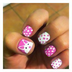 CreatedFashion / Easter nails ❤ liked on Polyvore