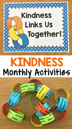 Kindness Activities {Monthly Kindness Activities and Posters} - Kindness lessons - Teaching Kindness, Kindness Activities, Anti Bullying Activities, Family Activities, Christmas Activities, Social Emotional Learning, Social Skills, Social Issues, Kindness Projects