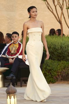 MaySociety — Ashi Studio Ready-to-Wear Spring/Summer 2018 Dress Hats, Jumpsuit Dress, Ashi Studio, Strapless Dress Formal, Formal Dresses, Spring Couture, Spring Summer 2018, Couture Collection, Couture Dresses