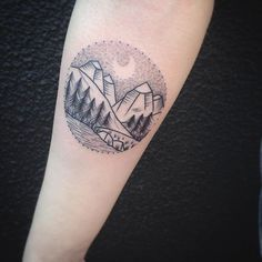 tattoo mountain dotwork dotworktattoo on Instagram
