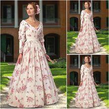 Hecho a la medida vestido lolita gótica azul / vestido de boda Guerra Scarlett vestido victoriano vestido Civil de 1860 Disfraces Vintage 693 R-(China (Mainland))