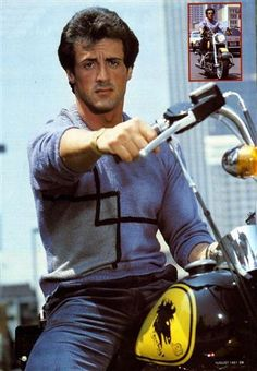 sly on motorcycle
