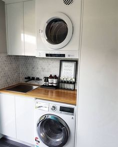 Great Laundry Room Layout Ideas Match For Any Home Design Laundry Cupboard, Laundry Nook, Laundry Room Layouts, Laundry Room Cabinets, Small Laundry Rooms, Laundry Room Organization, Laundry In Bathroom, Compact Laundry, Organization Ideas