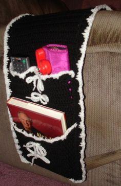 Arm Chair Organizer Caddy Black u0026 White by CrochetCraftsNMore $12.99 (see new Armchair Caddy & Organizer Caddy for Arm Chair or Recliner Royal Blue Adjustable ... islam-shia.org