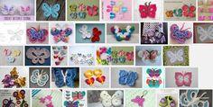 Rondjes en vlinders haken om kinderkledingte versieren metgehaakte en gebreide accessoires. Vlinders en bloemen fleuren het geheel op.