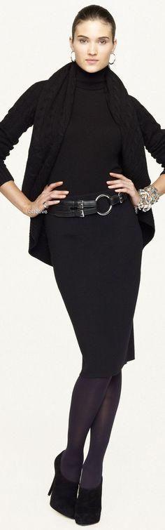 Ralph Lauren - Black Label - Cable Cashmere Circle Cardigan - Fashion New Trends Estilo Fashion, Fashion Mode, Look Fashion, Womens Fashion, Fashion Trends, Street Fashion, Office Fashion, Petite Fashion, Curvy Fashion