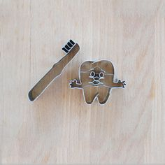 tooth & tooth brush cookie cutter
