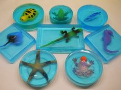 Toy in Soap  plastic toy placed in blue glycerin by thelemoncat, $3.00