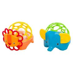 Oball Rollie Rattles   The clear rattle ball rolls and rattles when baby pushes it across the floor. And these colorful, charming characters add a little something extra!