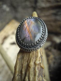 labradorite ring in sterling silver