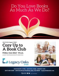 Come and see if you love books as much as we do at Legacy Oaks in Azle