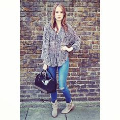 Rosie Fortescue in Steve Madden ankle boots HAGGLE available online at Dune London http://www.dunelondon.com/haggle-buckled-suede-slouchy-calf-boot-0687508150025297/ #dunelondon #stevemaddenuk #rosiefortescue #streetstyle #fashion #boots #style
