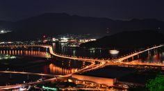 黄金山から広島都市高速の仁保ジャンクション by Taro Yamaguchi