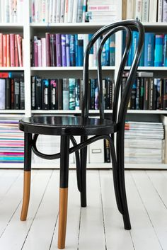 Kobber maling fra Jotun, dipped legs, thonet chair