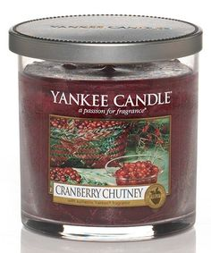 This Cranberry Chutney Tumbler Candle by Yankee Candle is perfect! #zulilyfinds