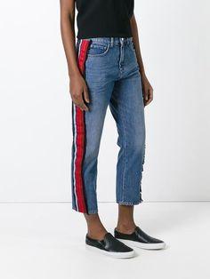 Victoria Victoria Beckham side stripe jeans