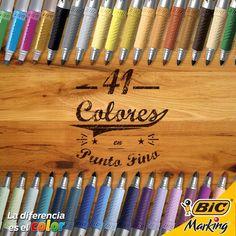 BIC Marking tiene 41 increíbles colores para que los combines como más te guste. #LaDiferenciaEsElColor #BICMarking #BICMarkIt #Drawing