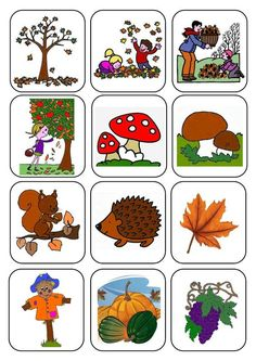 memory cards for fall Autumn Activities For Kids, Fall Preschool, Crafts For Kids, Fall Projects, Projects To Try, Autumn Crafts, Pre School, Fall Halloween, Clip Art
