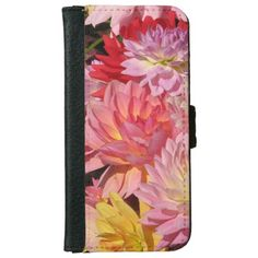 Profusion of Dahlia Flowers iPhone 6 Wallet Case