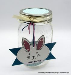 Decorated Easter Jar that can be filled with any number of things.