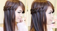 Knotted Loop Waterfall Braid Hairstyle | Hair Tutorial - YouTube