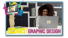 Mod The Sims: Ultimate Graphic Design Career by asiashamecca Sims 4 Jobs, Sims Cc, Sims 4 Game Mods, Sims Mods, Sims 4 Gameplay, Sims Hair, Eyes On The Prize, Sims 4 Update, Icons