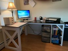 L Shaped Double X Desk – Handmade Haven