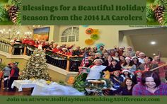 34th Holiday Caroling - Making A Difference  Volunteers, Carolers, Singers, Musicians, Crew come together yearly to bring Smiles, Love & Joy to seniors in the nursing homes & their families. It is a transformative experience for everyone.