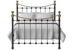 3ff25dd64d14 OBC Selkirk 4ft Small Double Satin Black Metal Bed Frame by Original  Bedstead Company Brass Bed