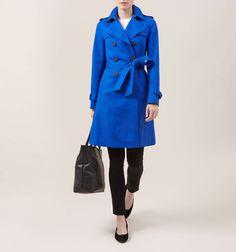 Blue Saskia Trench   Macs   Coats and Jackets   Hobbs