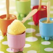Petites sucettes glacées orange banane fraise - une recette Glace - Cuisine