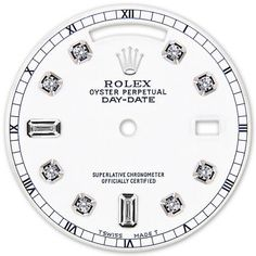 Other Watch Parts and Tools 180246: Rolex Mens Day Date White President White Color Dial 8+2 Diamond Dial Rt -> BUY IT NOW ONLY: $265 on #eBay #other #watch #parts #tools #rolex #white #president #color #diamond