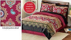 Colorful Henna Pattern Bedroom Comforter Set Multi Queen Collections Etc http://www.amazon.com/dp/B00TJJPJMM/ref=cm_sw_r_pi_dp_Kbi.wb1AT5RPF