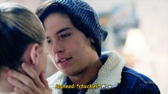Betty & Jughead — can we have every scene where these two kiss...