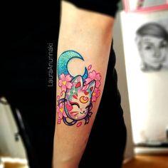 Cardcaptor Sakura wand tattoo by Laura Anunnaki. Girly Tattoos, Love Tattoos, Beautiful Tattoos, Body Art Tattoos, New Tattoos, Small Tattoos, Kawaii Tattoos, Tatoos, Amazing Tattoos