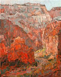 Angels Landing oil painting inspired by backpacking through Zion National Park.