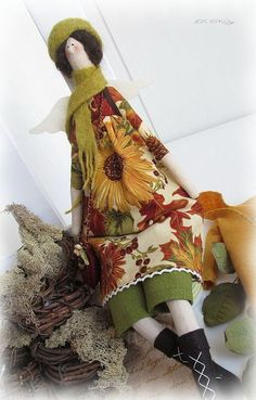 Куклы Тильды ручной работы. Ярмарка Мастеров - ручная работа Тильда Осенний ангел. Handmade.